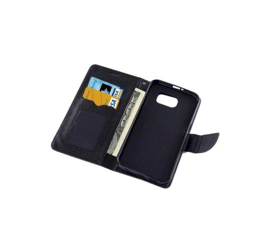 θηκη για Samsung Galaxy S7 G930 Cross Texture Horizontal Flip Solid Color Leather Case with Holder & Card Slots & Wallet (Black)