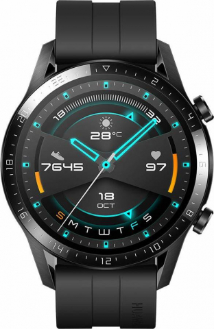 Huawei Watch GT 2 46mm Sport Edition Fluoroelastomer Strap Matte Black Smartwatch(LTN-B19)