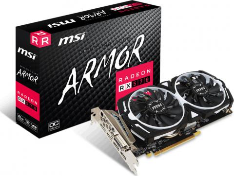 Radeon RX 570 Armor 8G OC 8GB DDR5 PCI-E DVI HDMI Triple DP (MSI)
