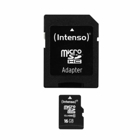 Intenso microSDHC 16GB Class 10 + adapter