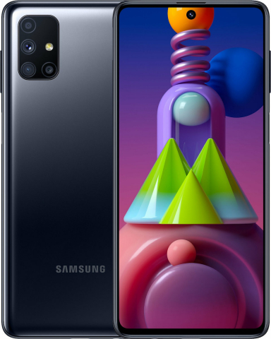 Samsung Galaxy M515FDSN M51 Dual Sim (128GB-6GB RAM) - Black