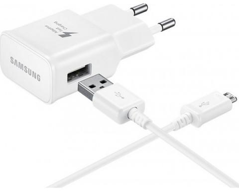 Samsung micro USB Cable & Wall Adapter Λευκό (EP-TA20EWE & ECB-DCU4AWE) (Bulk)