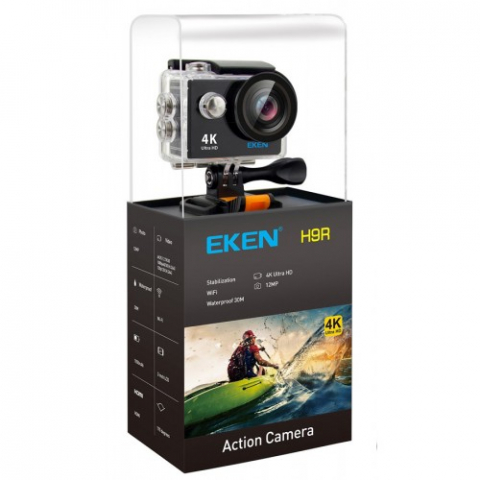 H9R 4K Wifi action cam+remote black