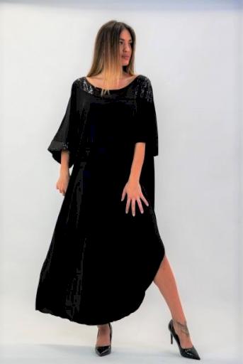 Φόρεμα μάξι Jersey ύφασμα