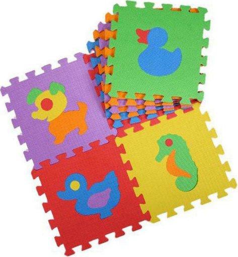 Δάπεδο παζλ παιδικό με ζωάκια 30x30x1 cm σετ 10 τεμαχίων