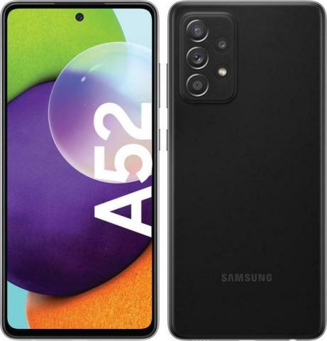 """GALAXY A52 4G SM-A525 6GB-128GB DS 6.5"""" AWESOME BLACK"""