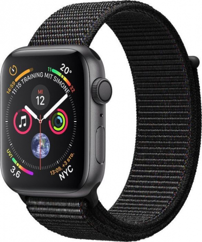 Apple Watch Series 4 GPS 44mm Grey Alum Black Sport Loop (MU6E2TYA)
