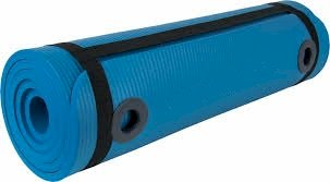 NBR MAT  Στρώμα γυμναστικής 1,80 x 60 x 1.5cm με κρίκους Μπλε