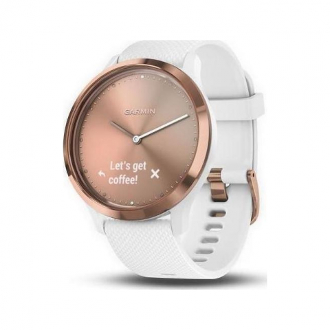 vivomove HR Sport S-M White-ROSE Gold