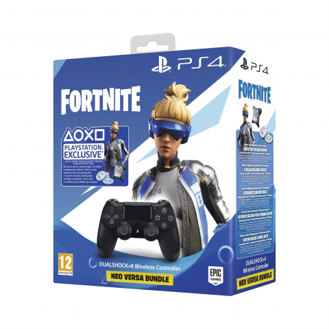 Sony Dualshock 4 Controller Black V2 + Fortnite Voucher (2019)