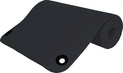 NBR MAT  Στρώμα γυμναστικής 1,80 x 60 x 1.5cm με κρίκους Μαύρο