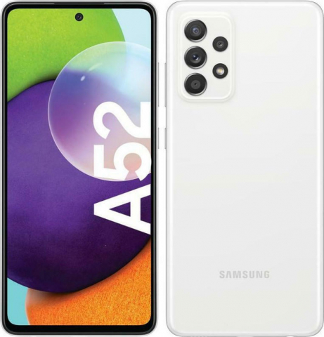 """GALAXY A52 4G SM-A525 6GB-128GB DS 6.5"""" Awesome WHITE"""