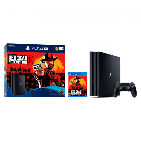 PS4 1TB Pro G CHASSIS + Red Dead Redemption 2
