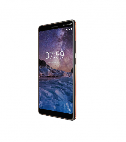 Nokia 7 Plus Single Sim(4GB-64GB) Black Copper EU