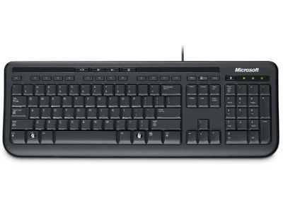 Microsoft Wired Keyboard 600 GR - Keyboard - Μαύρο