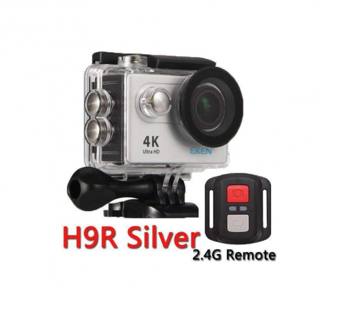 Eken H9r 4K Wifi action cam+remote Silver
