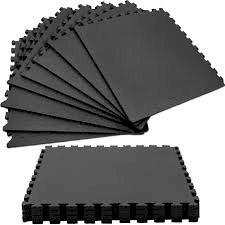 Δαπεδο παζλ 60 x 60 x1.4 cm σετ 4 κομμάτια μαυρο