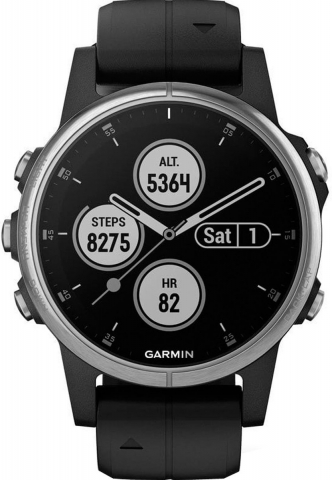 Garmin fenix 5S Plus Glass Silver-Black 010-01987-21