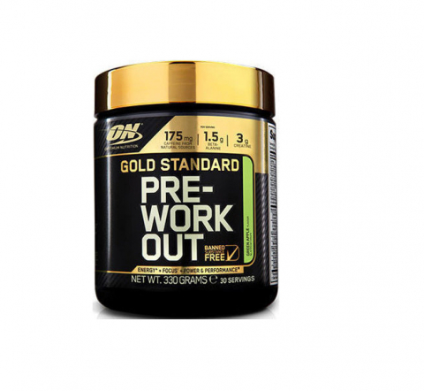 Optimum Nutrition Gold Standard Pre-Workout 330gr Πράσινο Μήλο