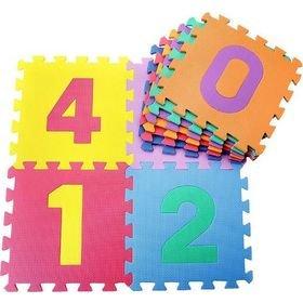 Δάπεδο παζλ παιδικό με αριθμούς 30x30x1 cm σετ 10 τεμαχίων